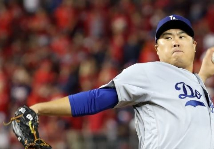 S. Korean Ryu Hyun-jin ties for 2nd in NL Cy Young voting