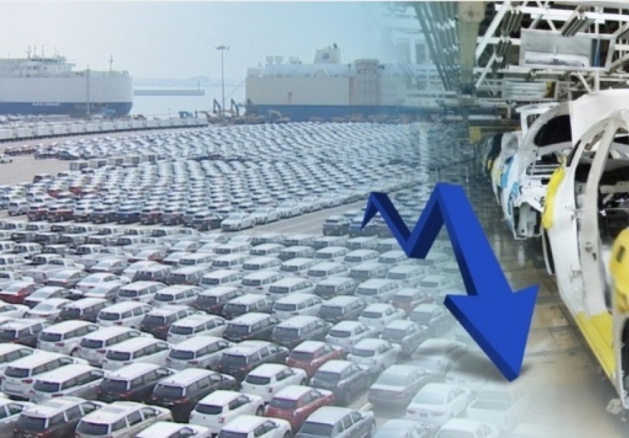 Auto exports fall 10 % in Oct.