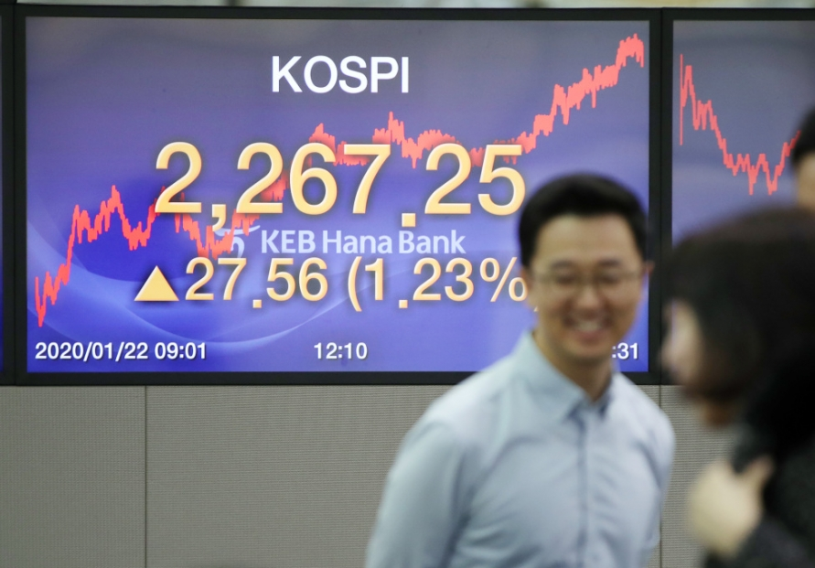 Seoul stocks trim earlier losses amid new coronavirus fear