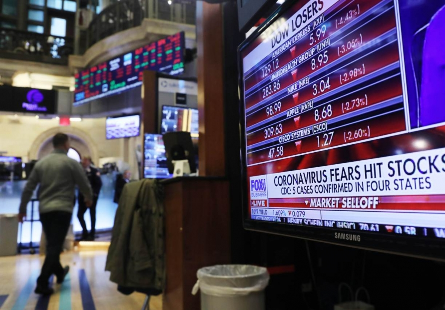 Stocks, oil fall as China virus rattles markets