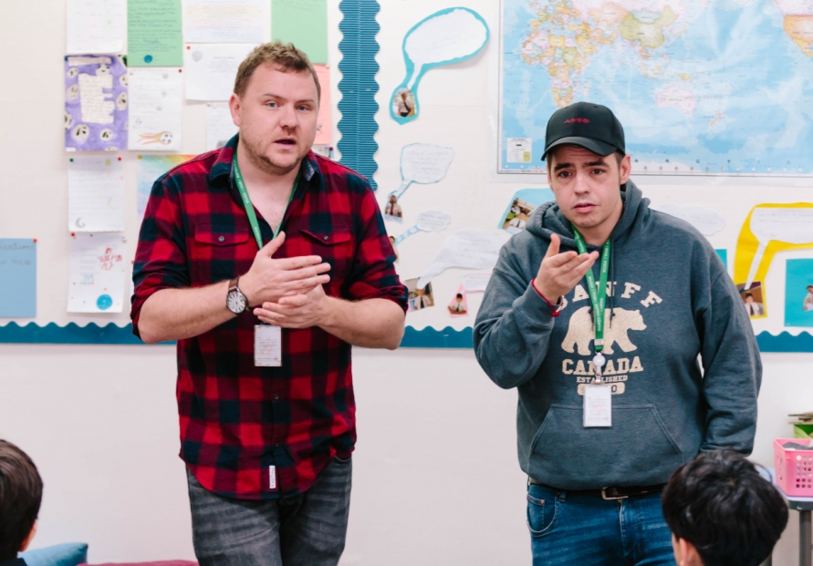 British rap duo help students unlock inner creativity