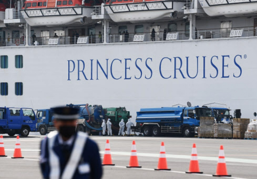 Japan to begin moving some off quarantined cruise ship