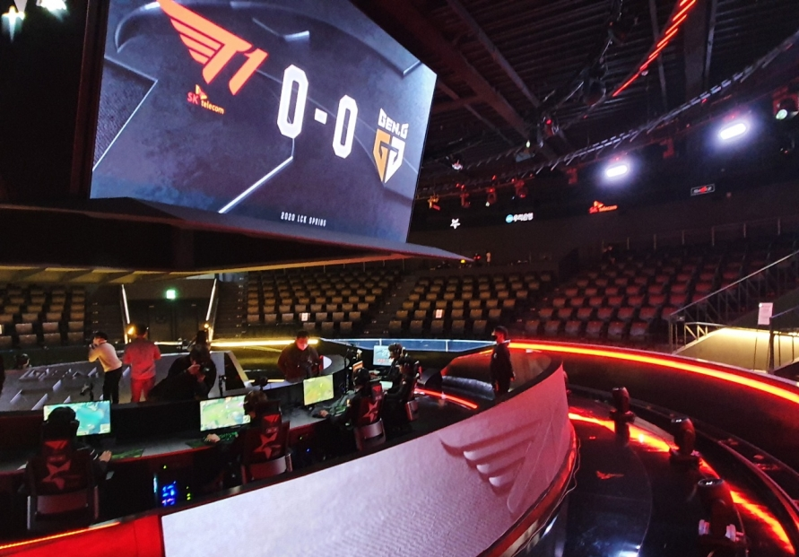 Esports league plays to empty stadium