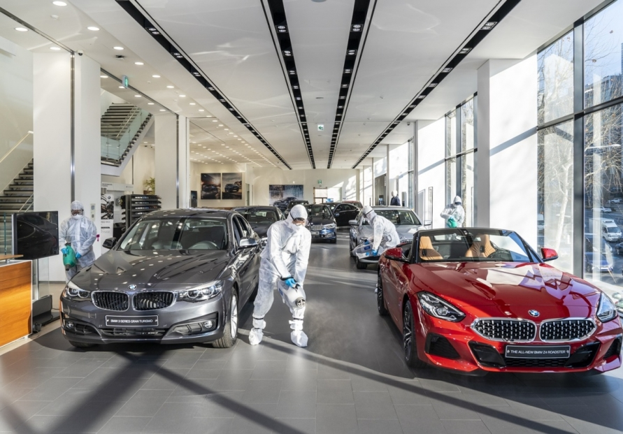 [Photo News] Disinfection at BMW showroom