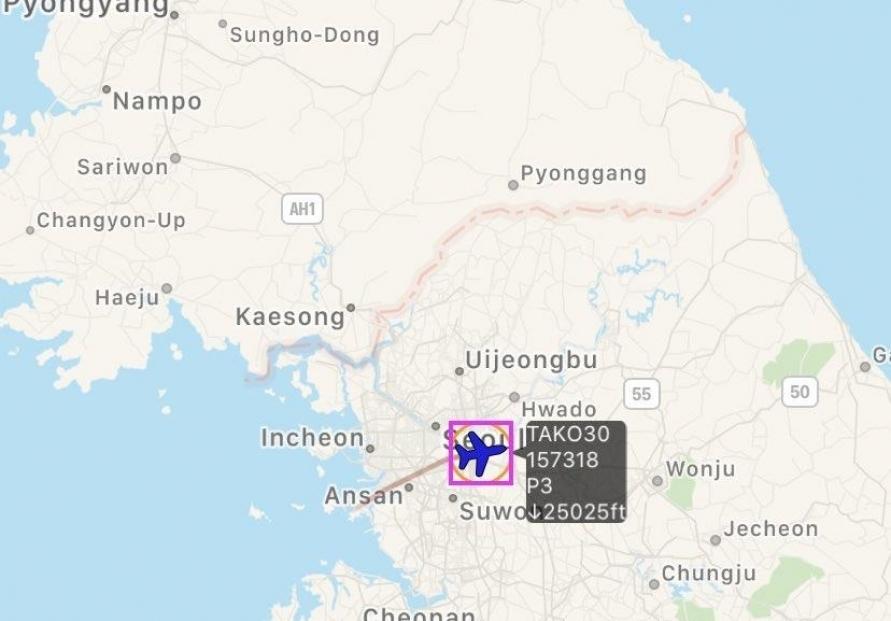 US flies surveillance plane over Korean Peninsula as NK fires missiles