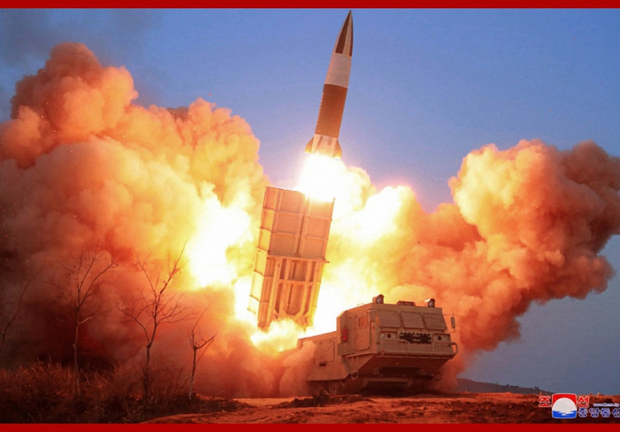 NK tests missiles as US chained to anti-virus efforts
