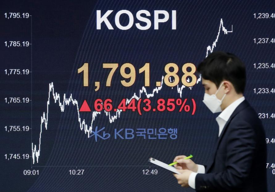 Seoul stocks spike almost 4% on hopes of virus treatment