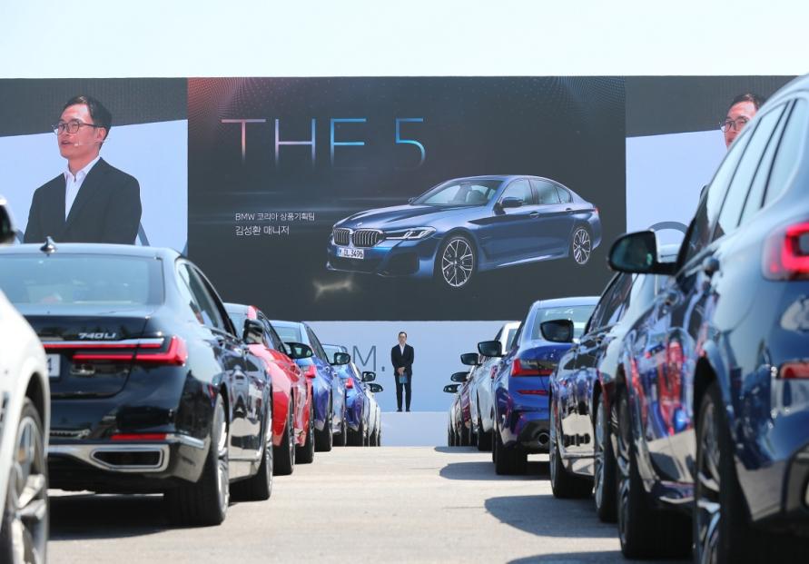 BMW unveils new 5, 6 Series lineup at 'drive-thru' world premiere in Korea
