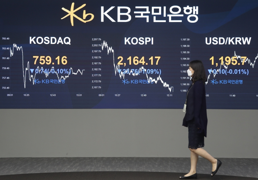Seoul stocks snap 3-day winning streak on growing virus concerns