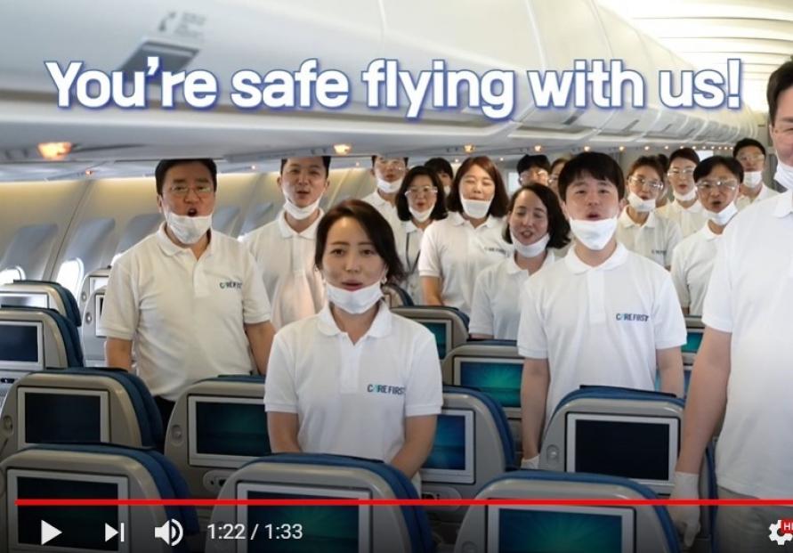 Korean Air releases video promoting hygiene procedures in planes
