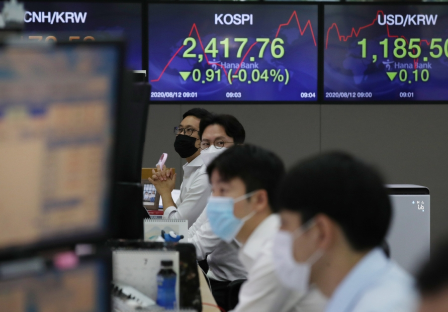 Seoul stocks open tad higher on pharmaceutical, financial gains