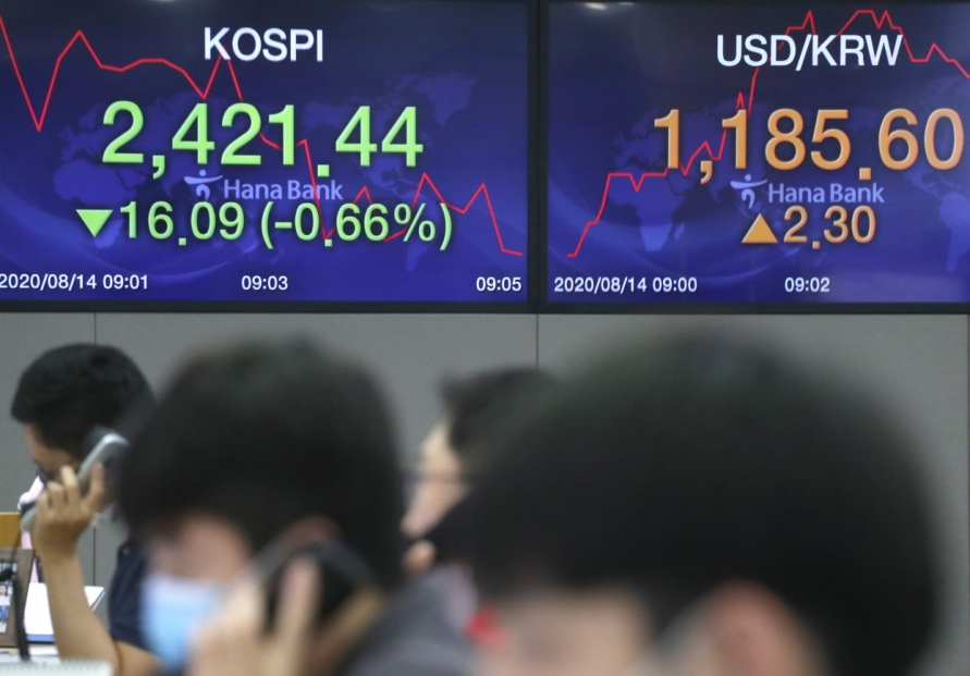 Seoul stocks open tad lower on profit-taking
