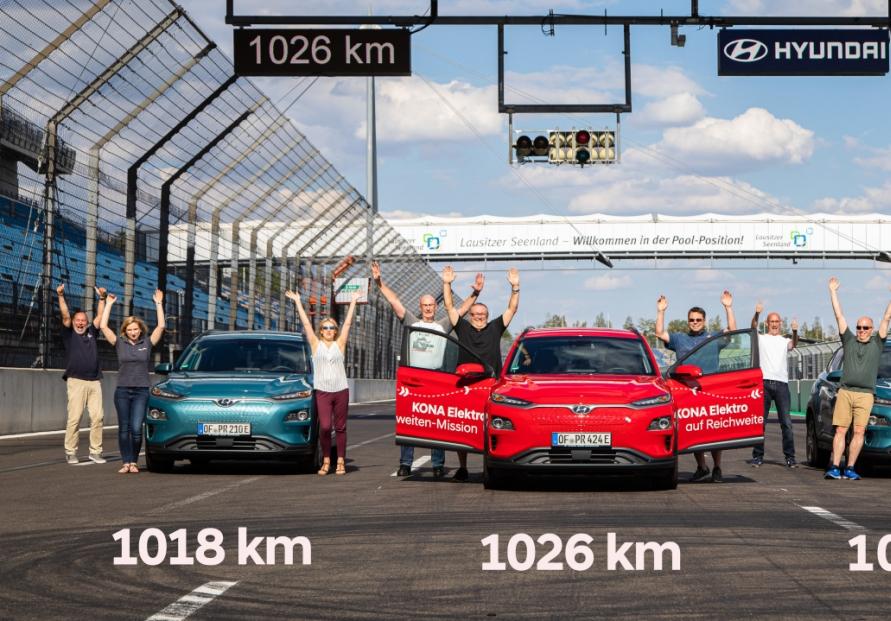 Hyundai Kona Electric sets new travel range of over 1,000 km