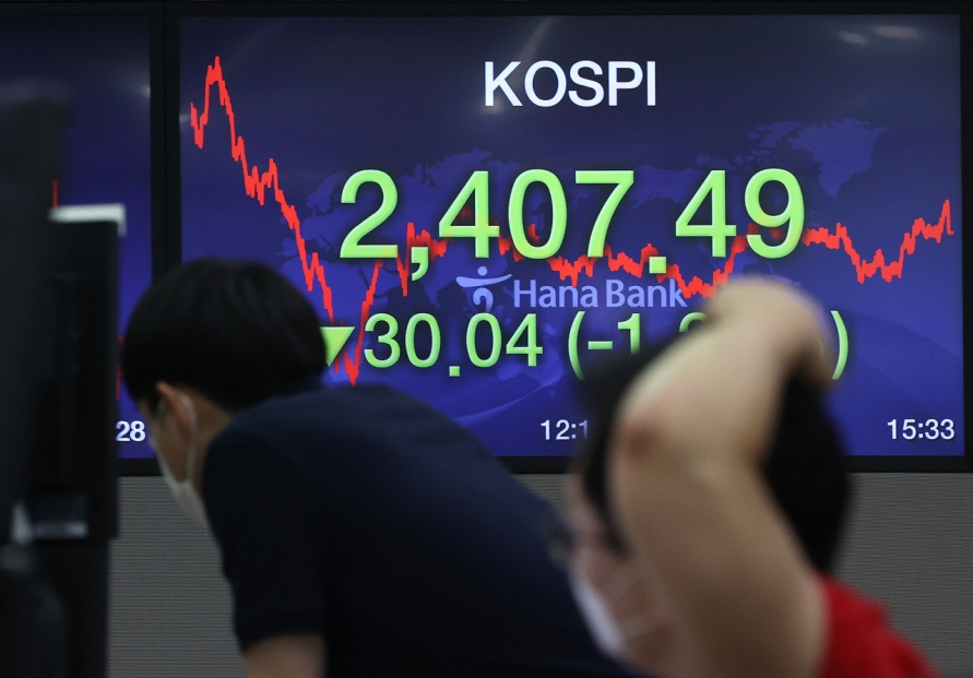 Seoul stocks snap winning streak on profit-taking
