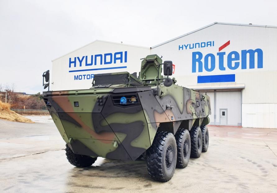 Hyundai Rotem bags W407.7b wheeled armored vehicle deal