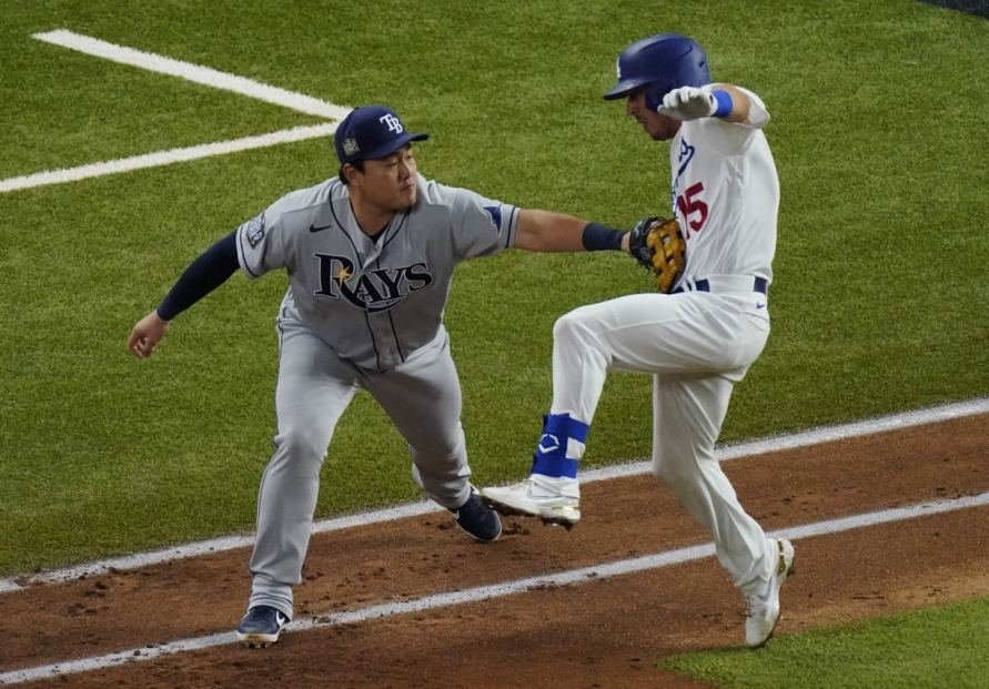 Rays, Choi Ji-man bow out vs. Dodgers in World Series