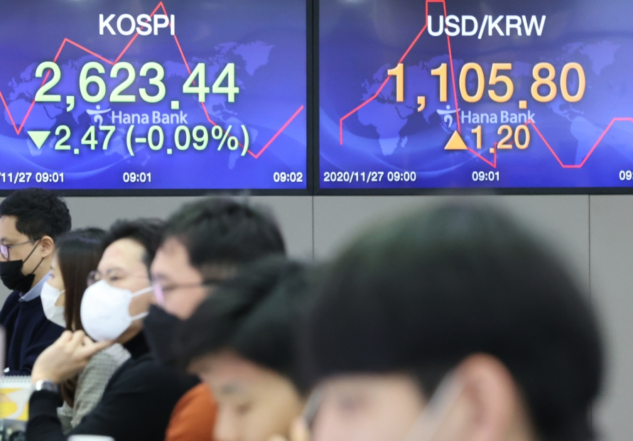 Seoul stocks open nearly flat on virus concerns