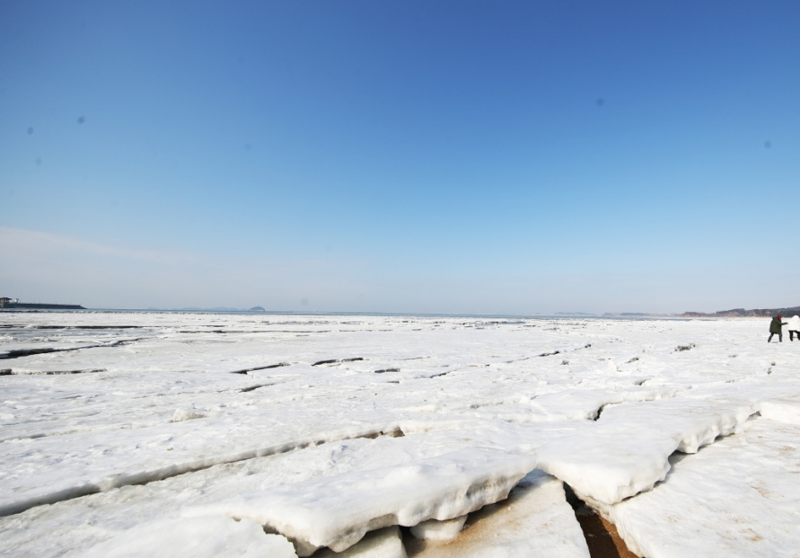 Arctic cold waves freeze ports in Hwaseong