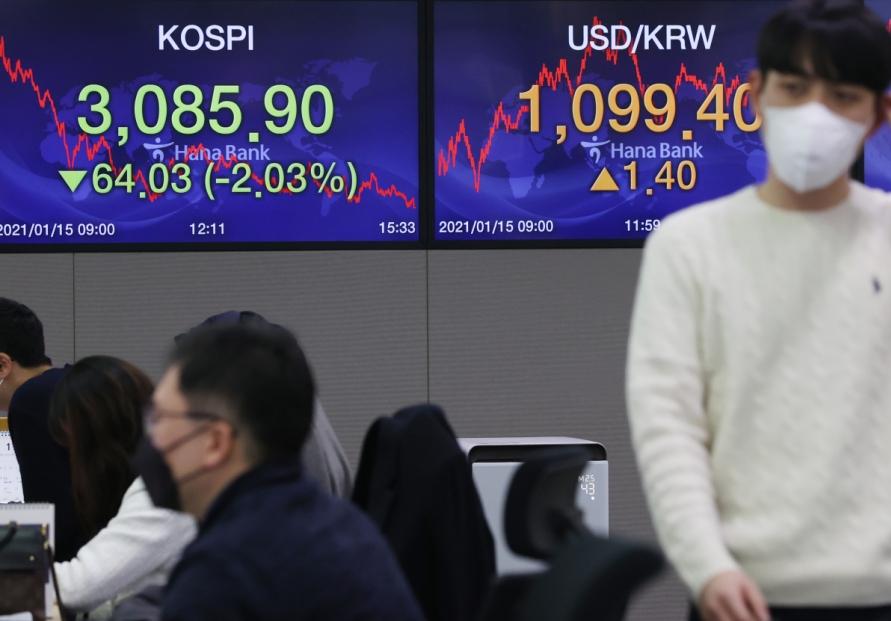 Seoul stocks tumble on profit-taking