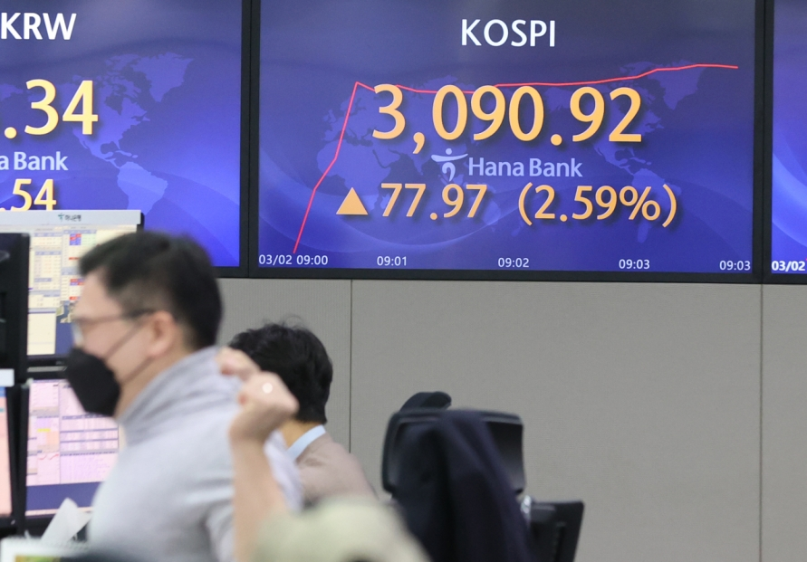 Seoul stocks open steeply higher on eased bond yield concerns