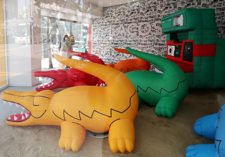 [Photo News] Lacoste crocodiles come to Garosu-gil