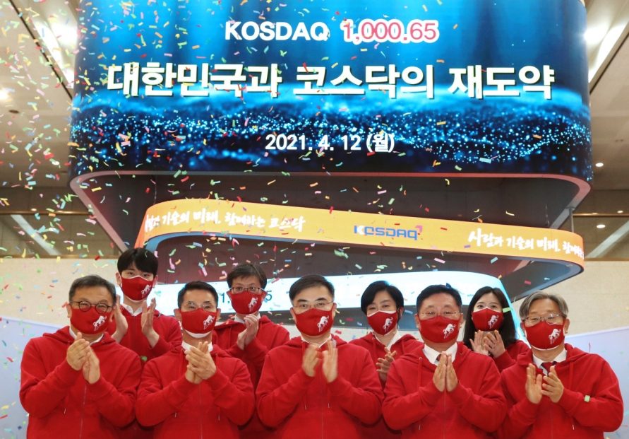 Kosdaq sees 1st close above 1,000 points in 20 years