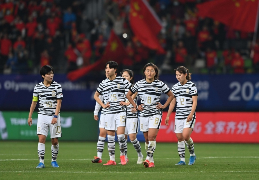 S. Korea blow lead vs. China to miss out on Olympic women's football tournament