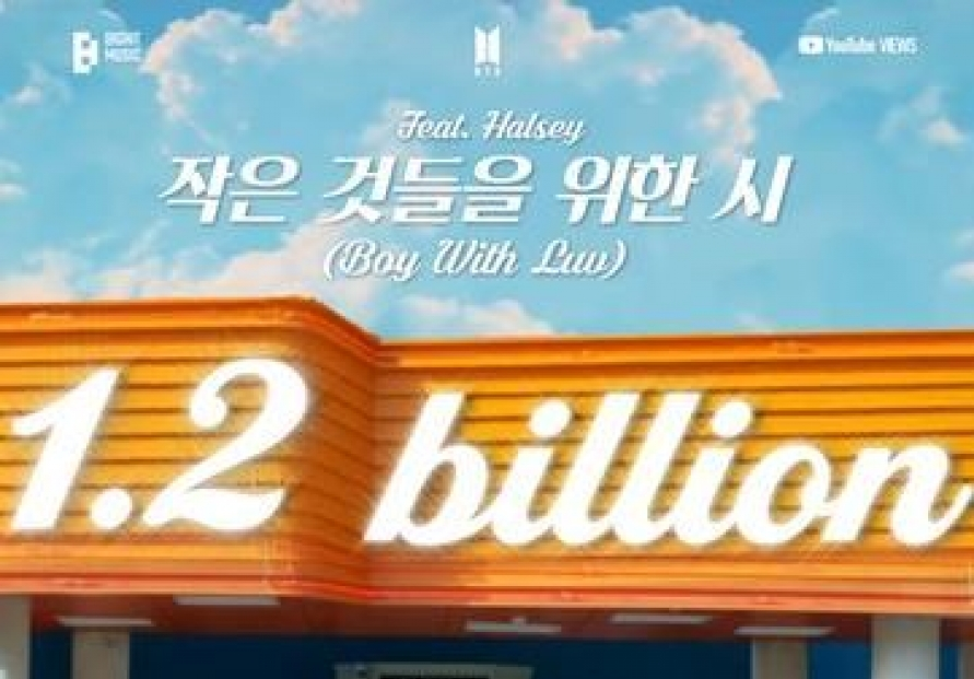 BTS hit 'Boy With Luv' breaks 1.2b YouTube views
