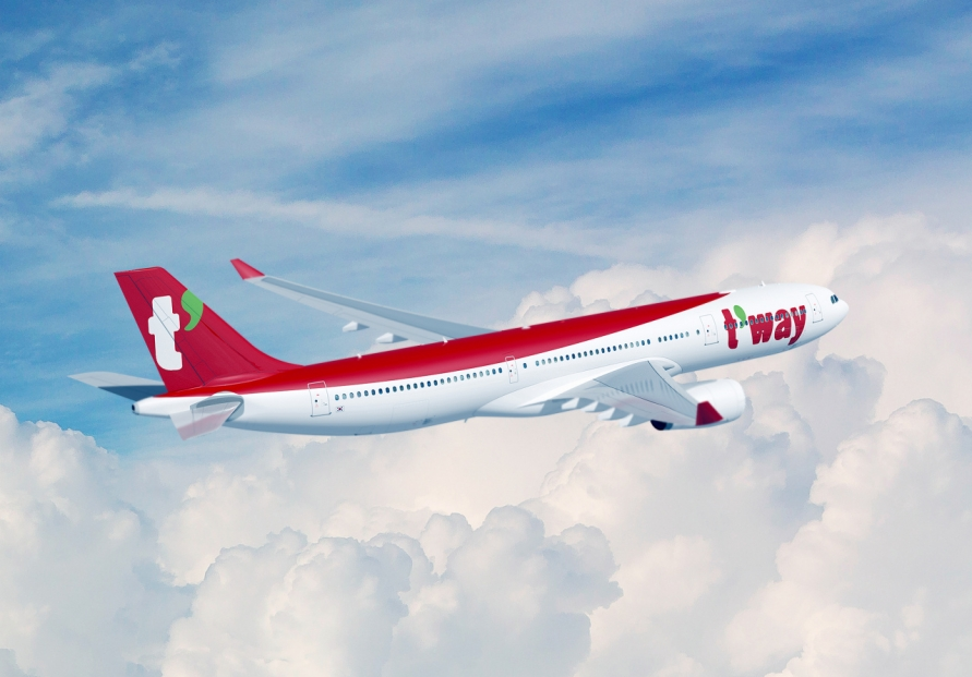 T'way Air finalizes lease deal to introduce midsize jetliners early next year
