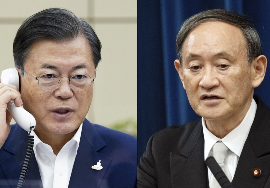 Moon's reconciliatory message delivered to Suga