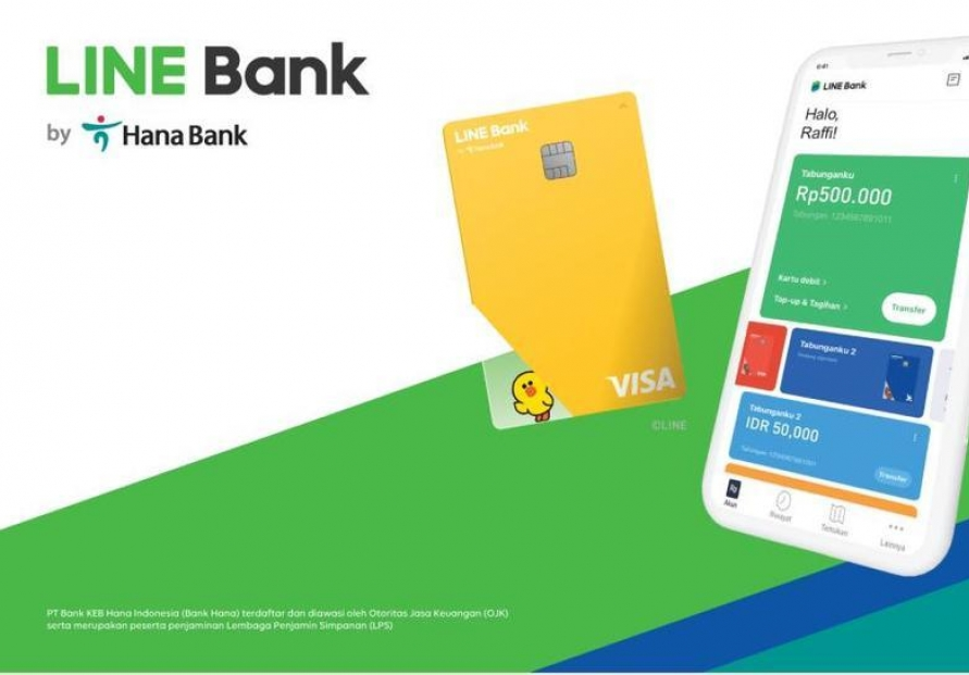 Hana Financial, LINE launches internet-only bank in Indonesia
