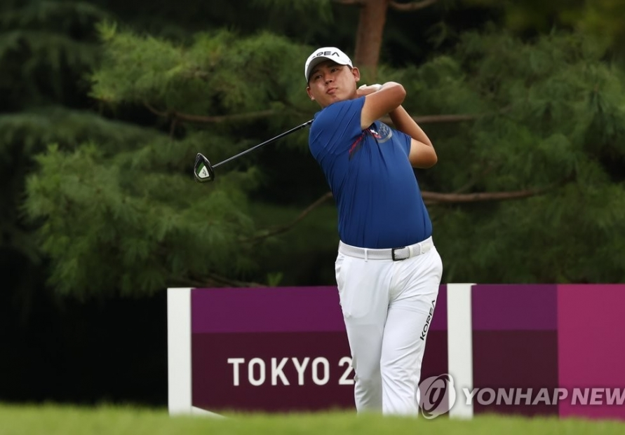 (Olympics) Kim Si-woo in middle of pack in men's golf