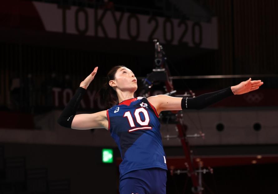 [Tokyo Olympics] Vollyeball star Kim Yeon-koung makes Olympic history in epic victory vs. Japan