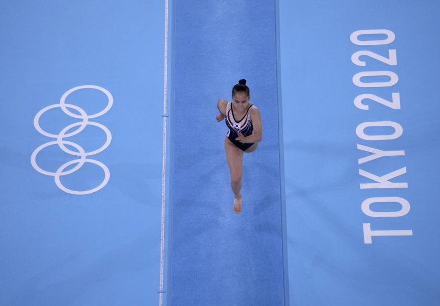 [Tokyo Olympics] Like father, like daughter: gymnast vaults to bronze 25 years after father's silver