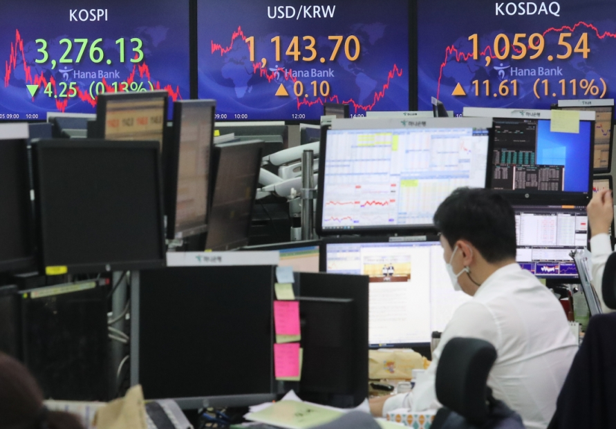 Seoul stocks snap 3-day winning streak on bio, tech losses