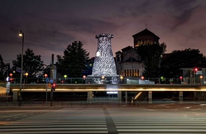 Installation work in central Seoul becomes talk of town