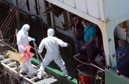 [Newsmaker] Another virus outbreak reported on Russian vessel in Busan