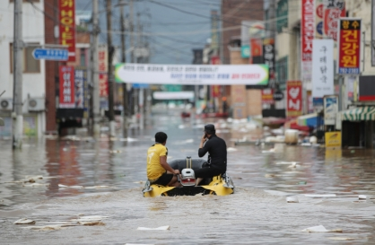 31 dead, 11 missing as heavy rain falls across S. Korea