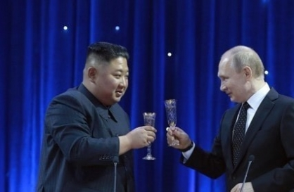 N. Korean, Russian leaders pledge stronger ties on Liberation Day exchange