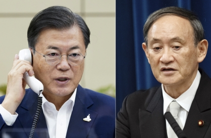 In call with Suga, Moon urges Japan to resolve forced labor issue