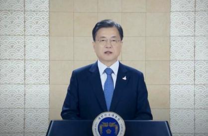 Moon calls for US support in ending Korean War