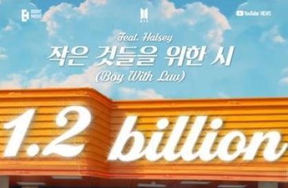 BTS hit 'Boy With Luv' breaks 1.2b YouTube views