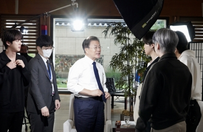 [Newsmaker] Moon says BTS helped spread awareness of climate change, other global issues