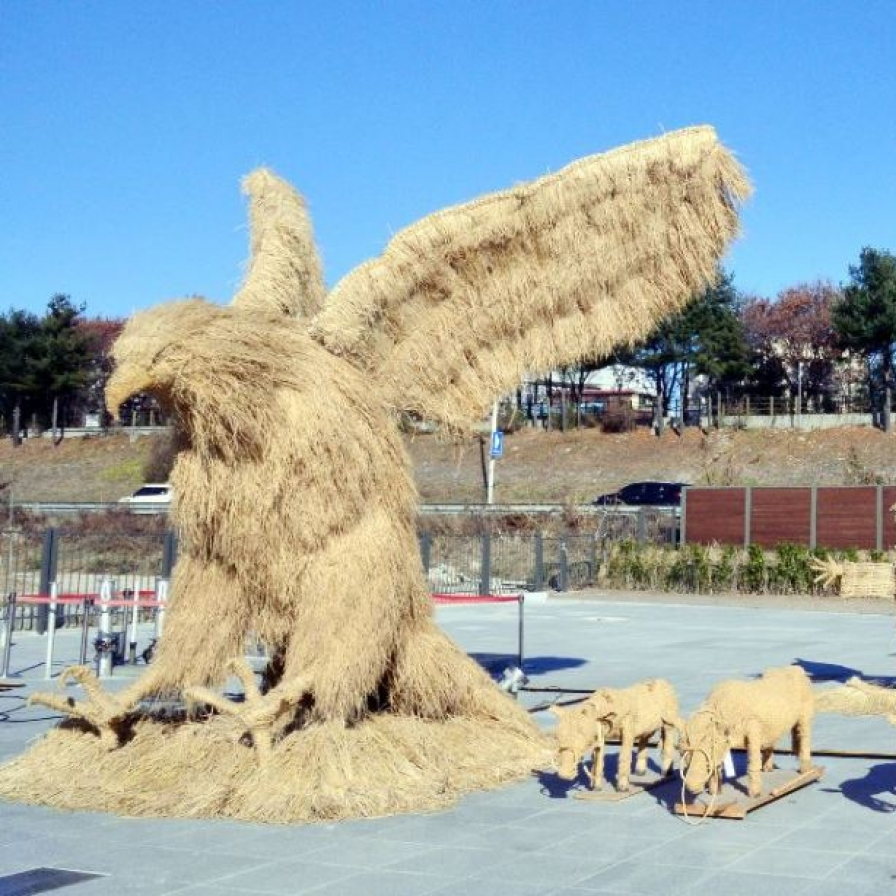 Making art out of straw