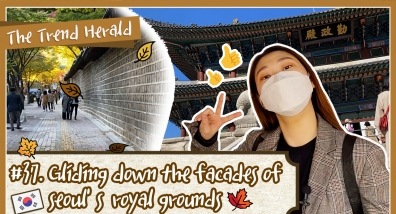 Gliding down the facades of Seoul's royal grounds