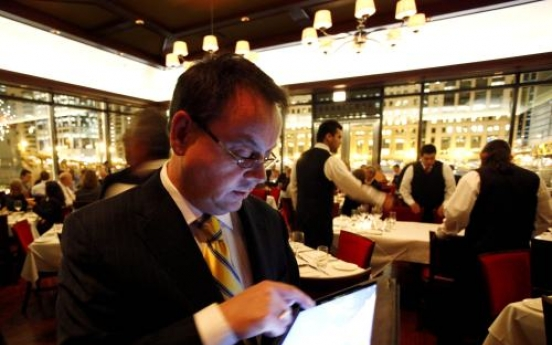 Restaurants uploading menus to iPads