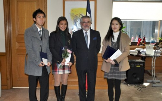 Chile Embassy awards language contestants