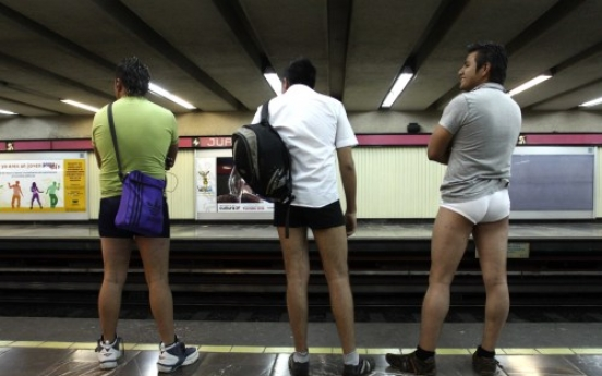 S. African police fine 'no pants' train passengers