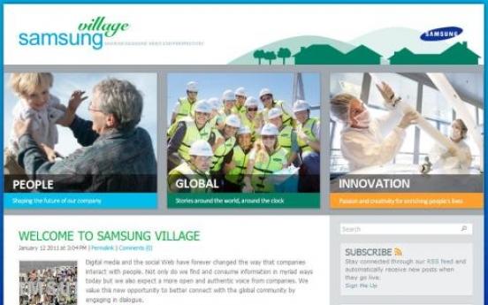 Samsung opens official global blog