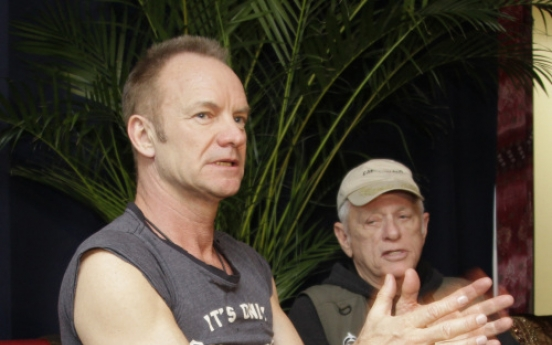 Sting, 'Cove' star talk saving dolphins